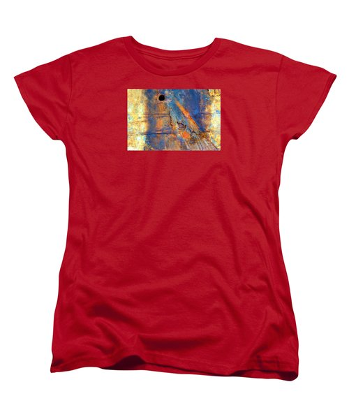 Women's T-Shirt (Standard Cut) featuring the photograph Boatyard Abstract1 by Newel Hunter