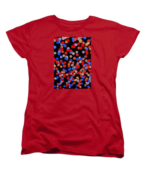 Bokeh Lights Women's T-Shirt (Standard Cut) by Ranjini Kandasamy