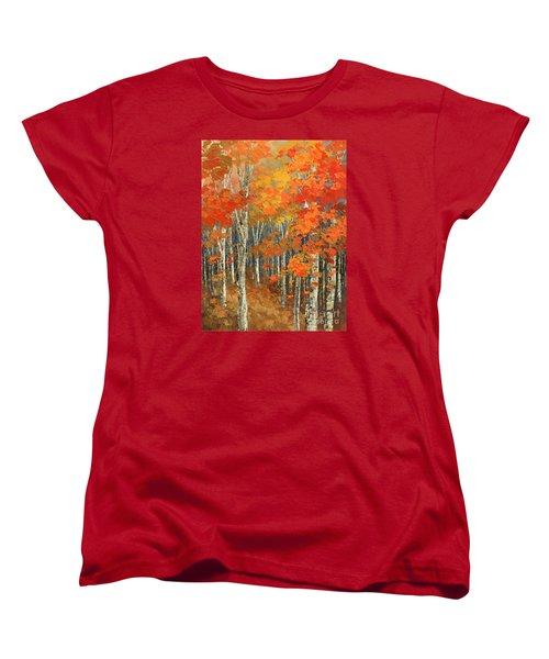 Women's T-Shirt (Standard Cut) featuring the painting Bold Banners by Tatiana Iliina