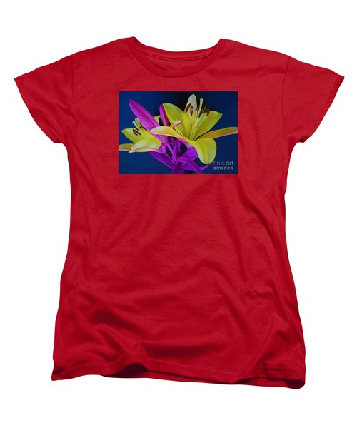 Women's T-Shirt (Standard Cut) featuring the photograph Bold Beautiful Flowers by Ray Shrewsberry