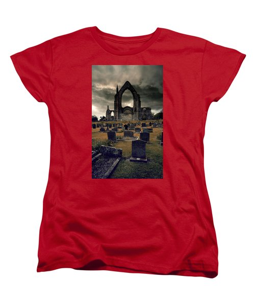 Bolton Abbey In The Stormy Weather Women's T-Shirt (Standard Cut) by Jaroslaw Blaminsky
