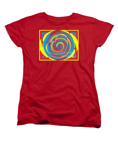 Women's T-Shirt (Standard Cut) featuring the painting Boo Hearted by Catherine Lott
