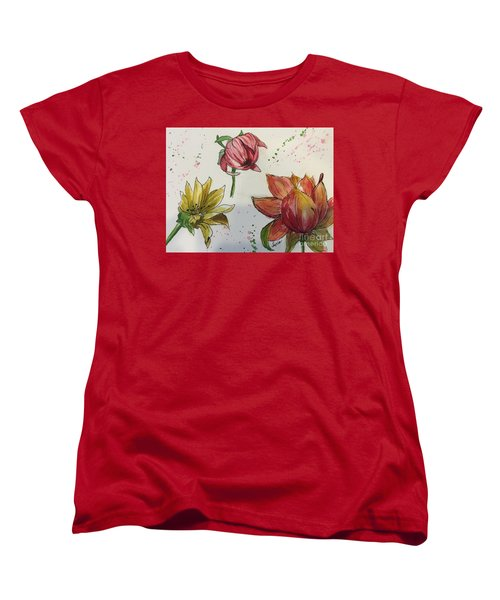 Botanicals Women's T-Shirt (Standard Cut) by Lucia Grilletto