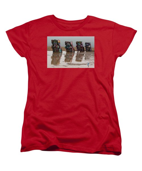 Women's T-Shirt (Standard Cut) featuring the photograph Bottoms Up by Stephen Stookey