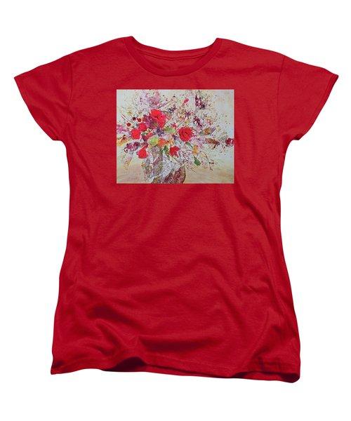 Women's T-Shirt (Standard Cut) featuring the painting Bouquet Desjours by Joanne Smoley