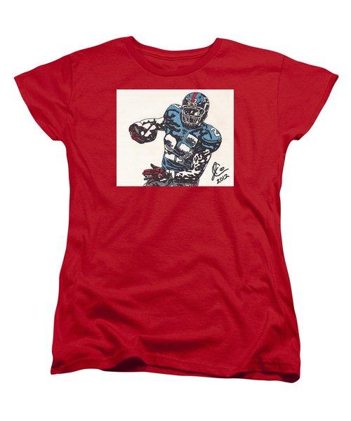 Brandon Jacobs 1 Women's T-Shirt (Standard Cut) by Jeremiah Colley