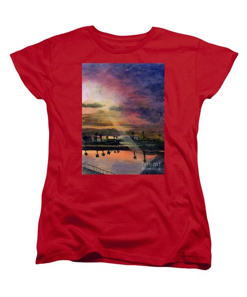 Brenda's Bay Women's T-Shirt (Standard Cut) by Randy Sprout