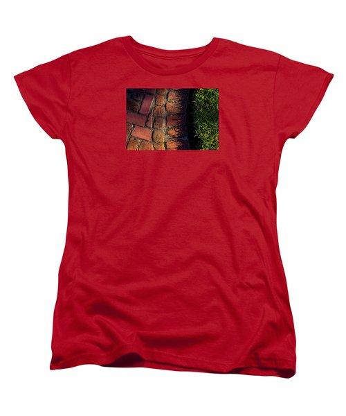 Brick Path In Afternoon Light Women's T-Shirt (Standard Cut) by Derek Dean