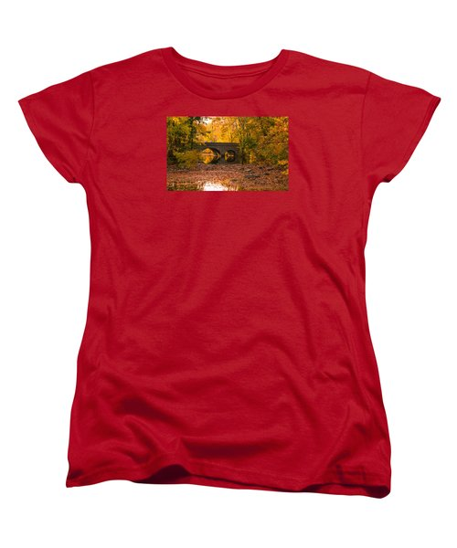 Women's T-Shirt (Standard Cut) featuring the photograph Bridge Of Gold by Cathy Donohoue