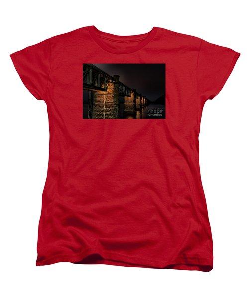 Bridge On Holy River Godavari Women's T-Shirt (Standard Cut) by Kiran Joshi