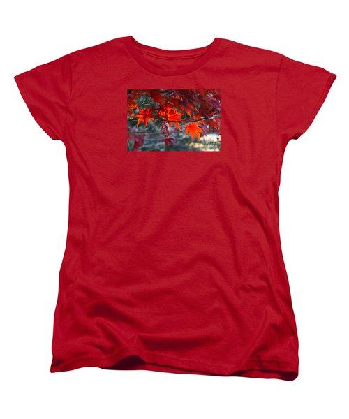 Bright Autumn Leaves Women's T-Shirt (Standard Cut) by Yumi Johnson