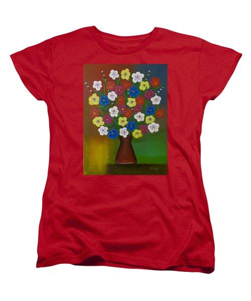 Brilliant Bouquet Women's T-Shirt (Standard Cut) by Teresa Wing