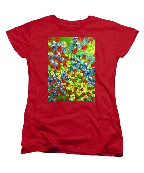 Brilliant Florals Women's T-Shirt (Standard Cut) by George Riney