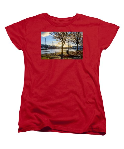 Bristol Harbour Women's T-Shirt (Standard Cut) by Colin Rayner