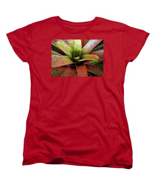 Women's T-Shirt (Standard Cut) featuring the photograph Bromeliad by Ranjini Kandasamy