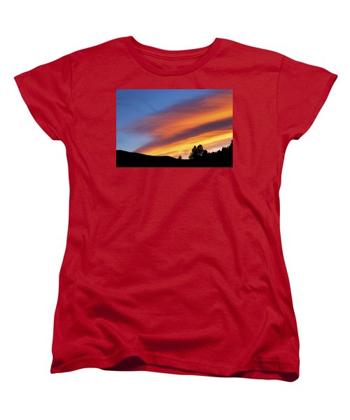 Broncos Sunset Women's T-Shirt (Standard Cut) by Kristin Davidson