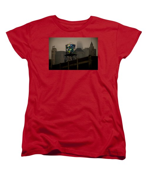 Women's T-Shirt (Standard Cut) featuring the photograph Brooklyn Water Tower by Chris Lord