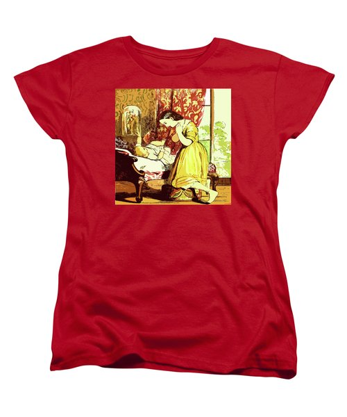 Women's T-Shirt (Standard Cut) featuring the drawing Brother And Sister by Digital Art Cafe