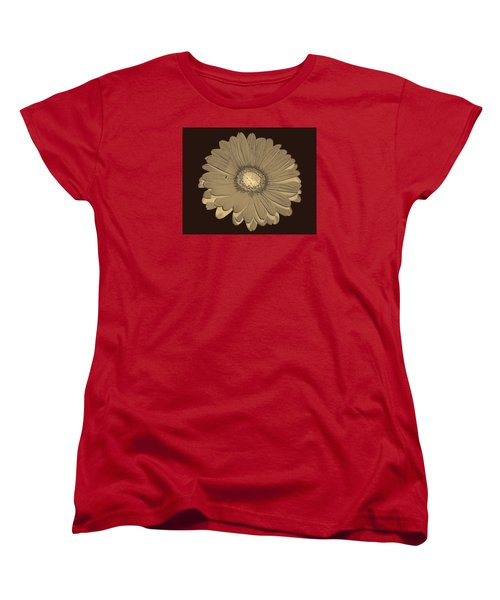 Women's T-Shirt (Standard Cut) featuring the digital art Brown Art by Milena Ilieva