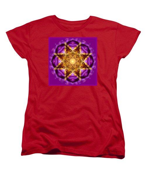Women's T-Shirt (Standard Cut) featuring the painting Buddha Mandala by Sue Halstenberg