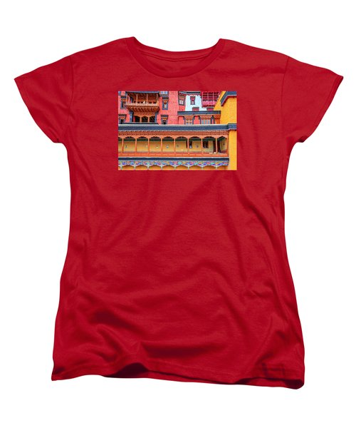 Women's T-Shirt (Standard Cut) featuring the photograph Buddhist Monastery Building by Alexey Stiop