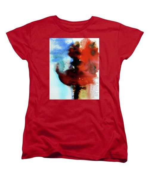 Women's T-Shirt (Standard Cut) featuring the painting Budding Romance by Jo Appleby