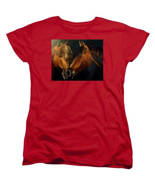 Buddy And Comet Women's T-Shirt (Standard Cut) by Maris Sherwood