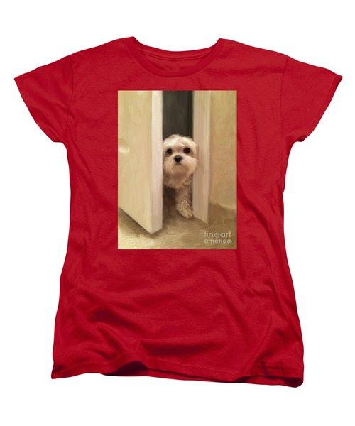 Women's T-Shirt (Standard Cut) featuring the photograph Hello by Lois Bryan