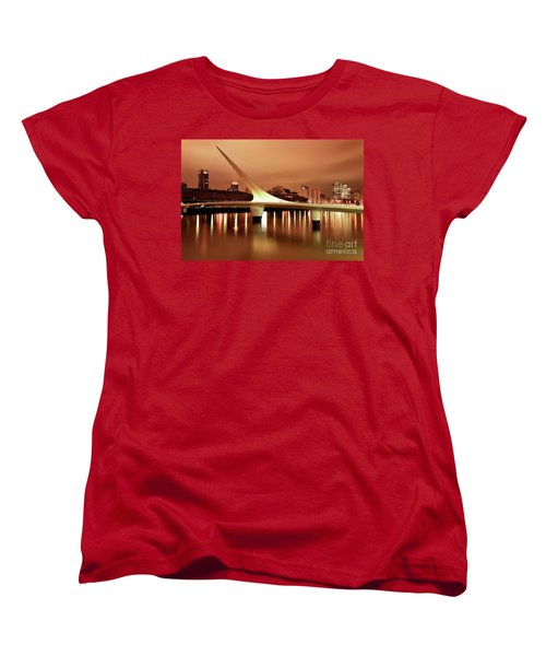 Women's T-Shirt (Standard Cut) featuring the photograph Buenos Aires On Fire by Bernardo Galmarini
