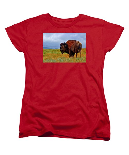 Women's T-Shirt (Standard Cut) featuring the photograph Buffalo 006 by George Bostian