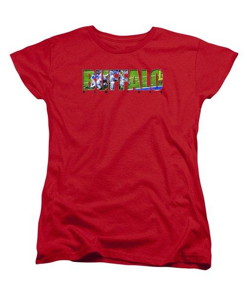 Buffalo Ny Buffalo Bills Women's T-Shirt (Standard Cut) by Michael Frank Jr
