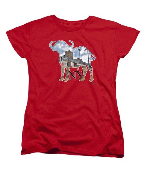 Buffalo Ny Coca Cola Field  Women's T-Shirt (Standard Cut) by Michael Frank Jr