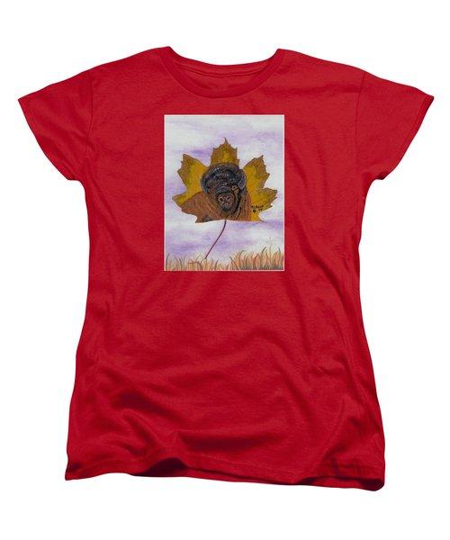 Buffalo Profile Women's T-Shirt (Standard Cut) by Ralph Root