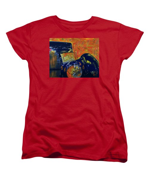 Bugatti Abstract Blue Women's T-Shirt (Standard Cut) by Walter Fahmy
