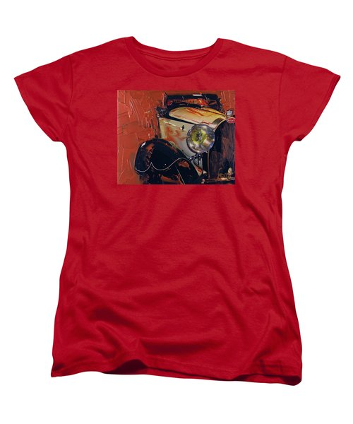 Women's T-Shirt (Standard Cut) featuring the photograph Bugatti Type 43 Roadster Luxe 1929 1 by Walter Fahmy
