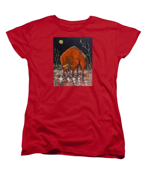 Bull And Paper Boats Women's T-Shirt (Standard Cut) by Maxim Komissarchik