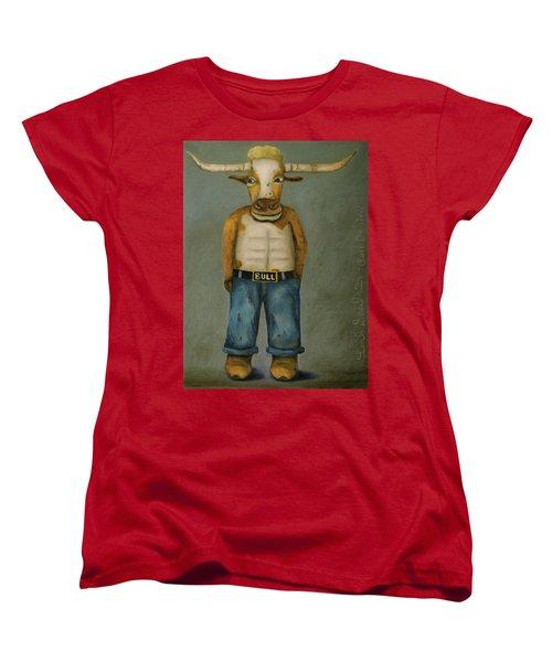 Bull Denim Women's T-Shirt (Standard Cut) by Leah Saulnier The Painting Maniac