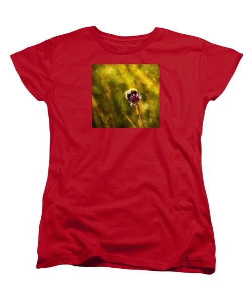 Women's T-Shirt (Standard Cut) featuring the photograph Bumblebee  by Rose-Maries Pictures