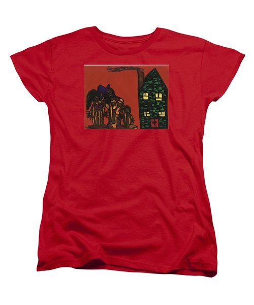 Bumpkin Dwellings Women's T-Shirt (Standard Cut) by Darrell Black