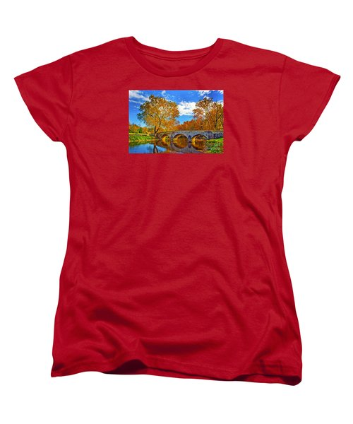 Burnside Bridge At Antietam Women's T-Shirt (Standard Cut) by Paul W Faust -  Impressions of Light