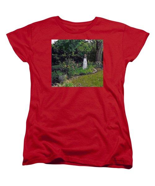 Burnside Garden Lighthouse Women's T-Shirt (Standard Cut) by Cedric Hampton