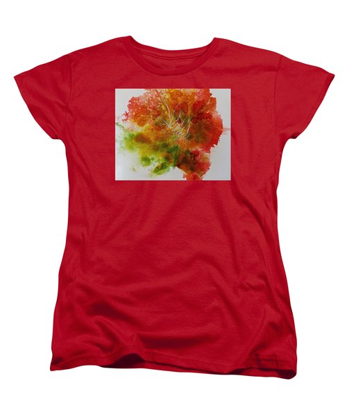 Women's T-Shirt (Standard Cut) featuring the painting Burst Of Nature by Carolyn Rosenberger
