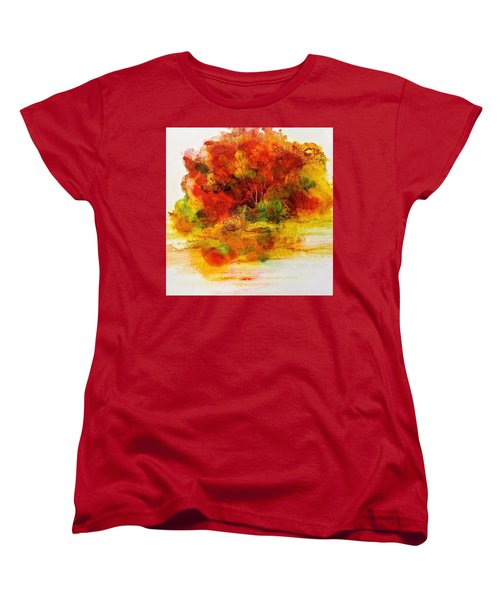 Women's T-Shirt (Standard Cut) featuring the painting Burst Of Nature IIi by Carolyn Rosenberger