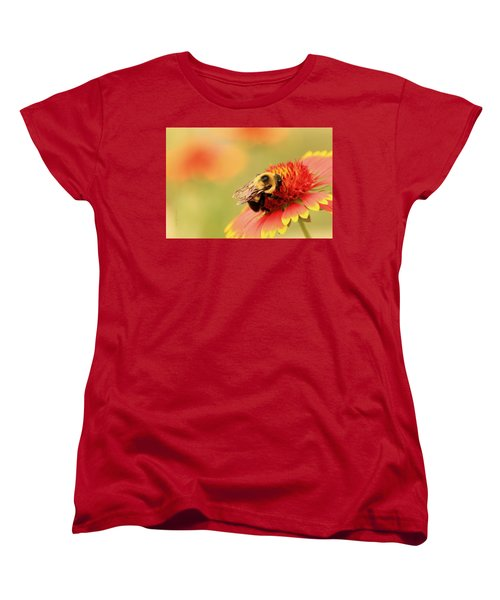 Women's T-Shirt (Standard Cut) featuring the photograph Busy Bumblebee by Chris Berry