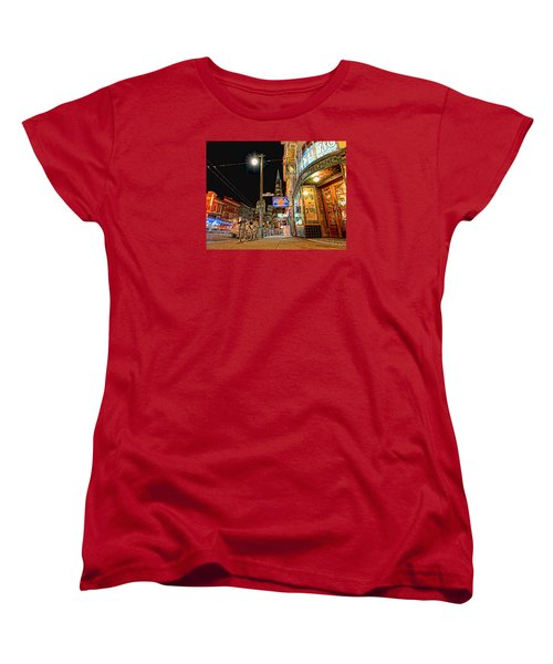 Busy View Northbeach San Francisco Women's T-Shirt (Standard Cut) by Steve Siri