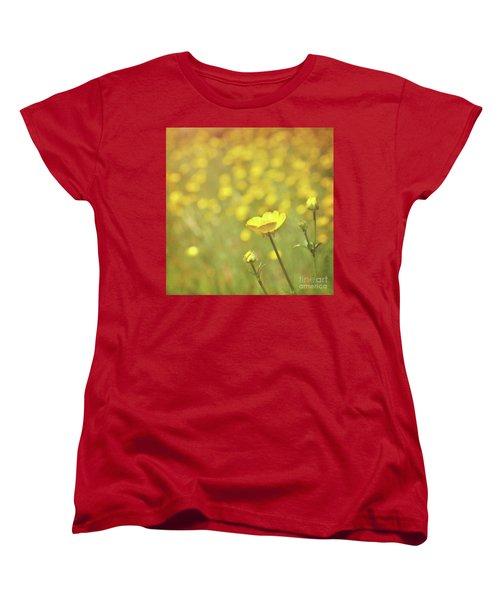 Buttercups Women's T-Shirt (Standard Cut) by Lyn Randle