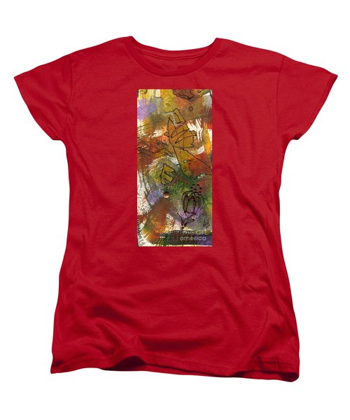 Women's T-Shirt (Standard Cut) featuring the mixed media Butterfly Kisses by Angela L Walker