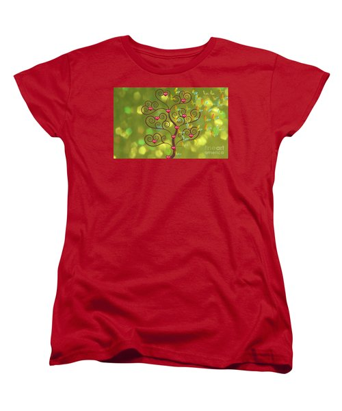 Butterfly Of Heart Tree Women's T-Shirt (Standard Cut) by Kim Prowse