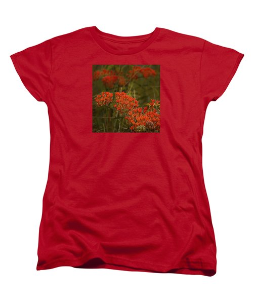 Women's T-Shirt (Standard Cut) featuring the photograph Butterfly Weed Asclepias Tuberosa by Bellesouth Studio