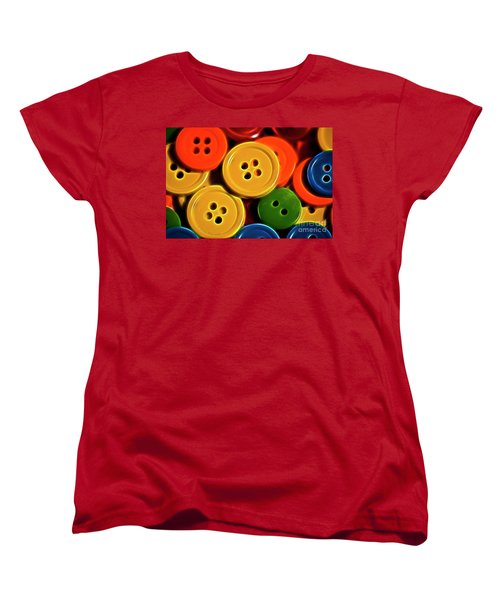 Women's T-Shirt (Standard Cut) featuring the photograph Buttons by Linda Blair